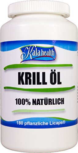 Kala Health - Rimfrost® Krill Öl 180 vegetarische Licaps® Kapseln - Omega 3,7,9 (Herz-gesundheit Krill öl)