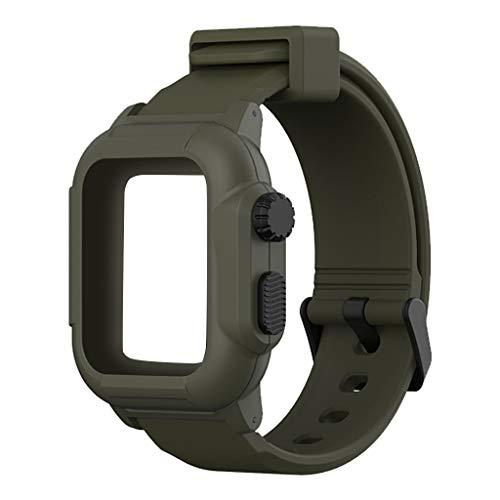 Preisvergleich Produktbild Smartwatch Uhrenarmband Zubehör Unisex Neu Waterproof Soft Silikon Sportarmband und Fitnessband Strap Ersatzarmbänder mit Uhr case Kompatibel für Apple Watch4 40mm 44mm, OverDose Boutique