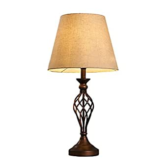 Xiangyu Table Lamp Retro Iron Art For Living Room Bedroom Bedside Lamp Study Room Lamp Bar