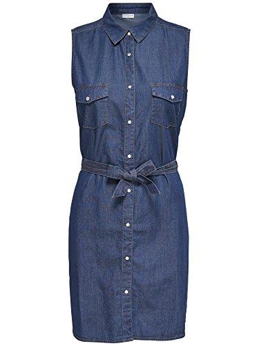 JACQUELINE de YONG -  Vestito  - Camicia  - Senza maniche  - Donna media blu denim