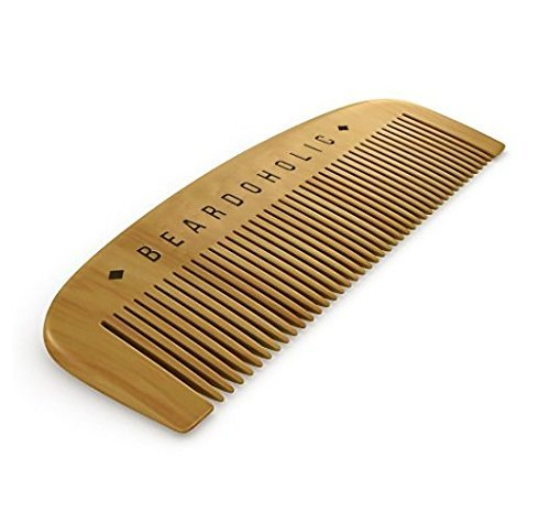 Beard Comb with Gift Box - Fine Toothed - Anti Static & Detangles Your Beard, Mustaches and Head Hair - Pocket Friendly 100% Wood Brush by Beardoholic - Pocket Hair Brush