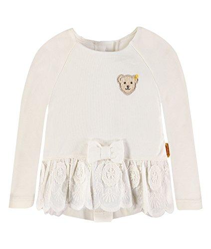 Steiff Baby-Mädchen Sweatshirt 1/1 Arm, Weiß (Cloud Dancer 1610), 86 (Herstellergröße:86)