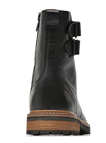 Chaussures bottines model MARLEY en cuir par HGilliane Design Eu 33 au 46 Black