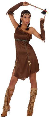 Atosa 10227 - Verkleidung Indianerin, Größe 34-36, - Indianerin Kostüm
