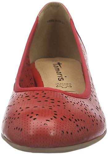 Tamaris 22202, Chaussures à talons - Avant du pieds couvert femme Rouge - Rouge pâle
