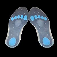 Soumit® Unisex Traspirante Anti-Scivolo Perforato in Silicone Gel Plantare Solette con Massaggi Convesso Arco e A Forma di U Tacco per Prevenire Piedi Malattia EU(40-41)