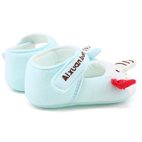 Igemy 1 Paar Neue Mode Baby Mädchen Soft Sole Karikatur Anti-Rutsch Baumwolle Kleinkind Schuhe Blau