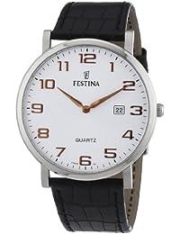 Festina F16476 2 - Reloj analógico de cuarzo para hombre con correa de piel 2708faaab77