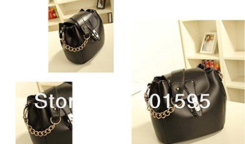 achievess £ š TM) 2014New Fashion Design Femmes Toile Casual Sac d'épaule d'embrayage Lady sac à main Message Sacs, rouge (Rouge) - Ae-UK-1648828719-Hao-shoulder bag-R noir