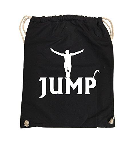 Borse Da Commedia - Jump - Figure - Borsa Da Giro - 37x46cm - Colore: Nero / Argento Nero / Bianco