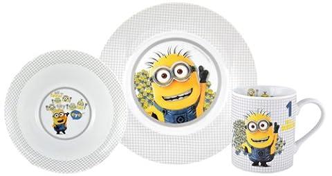 United Labels 811758 Minions - Frühstücksset 1 in a Minion, 3 teilig (Porzellan Spielzeug)