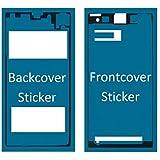 Set de 2 etiquetas/folios adhesivos delantero y trasero resistentes al agua impermeables para Sony Xperia Z1 MMOBIEL.