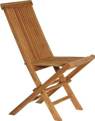 IB Style - 2 Stück ROYAL Topqualität Klappstühle TEAKHOLZ Klappstuhl Hochlehner Gartenstuhl Klappsessel Stuhl Teak Gartenmöbel von IB-Style