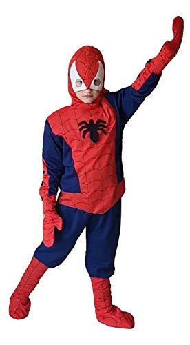 Piccoli monelli costume uomo ragno bambino 11 12 anni vestito spider man bimbo con muscoli caldo di carnevale