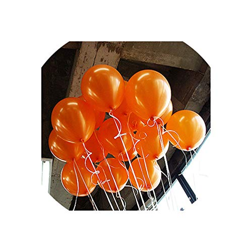 Archiba 10pcs 12inch 2.2g Green Orange Heart Latex Balloons Birthday Wedding Supply Latex Balloons Air Balls Kids Party Inflatable Toys,A13 Orange Round,1.8g (Up Halloween Light Ballons)