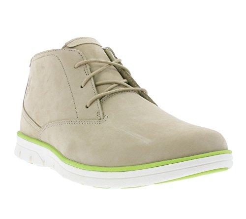 Timberland Bradstreet PT Chukka Schuhe Herren Echtleder-Halbstiefel Schnürschuhe Beige A1119, Größenauswahl:45