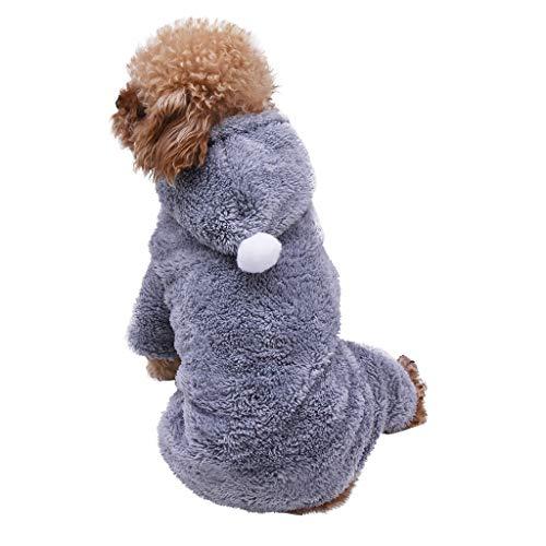 Wintermantel Kapuzenmantel Winterjacke Hawkimin Haustier Keinen Hund/Katze Doggy Plush Bequem Warmer Hundekostüm für Kleine Hunde Kleidung Kleiner Hund Welpen Kostüme Welpe Bekleidung (Bequem Kostüm)