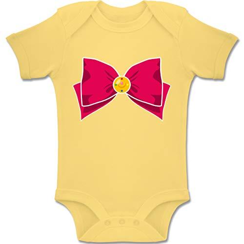 Kostüm Moon Sailor Saturn - Shirtracer Karneval und Fasching Baby - Superheld Manga Moon Kostüm - 1-3 Monate - Hellgelb - BZ10 - Baby Body Kurzarm Jungen Mädchen