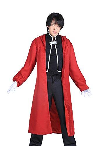 De-Cos Fullmetal Alchemist Cosplay Costume Elric Edward 1st Version (Kostüm Elric Halloween Edward)