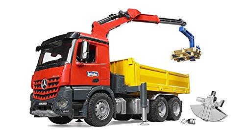 (Bruder Baustellen LKW mit Kran + Schaufelgreifer)