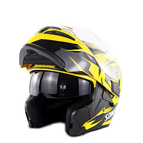 ocross Helme Abs Doppel Objektiv Erwachsene Mountain Road Motorrad Helm Jahreszeiten Universal Outdoor Modular Racing Helm ()