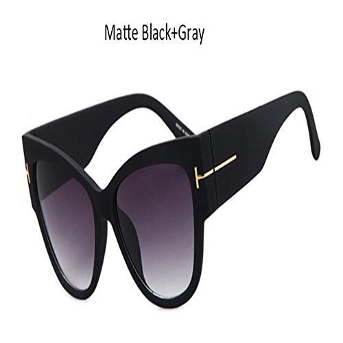 Tom Fashion Brand Designer Katzenauge Frauen Sonnenbrille Weibliche Gradienten Punkte Sonnenbrille Große Oculos Feminino De Sol (Lenses Color : NO2)