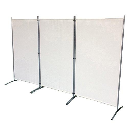 SAILUN® 260x180cm Beige Biombo de Privacidad Plegable para Casa de Campo Dormitorio...