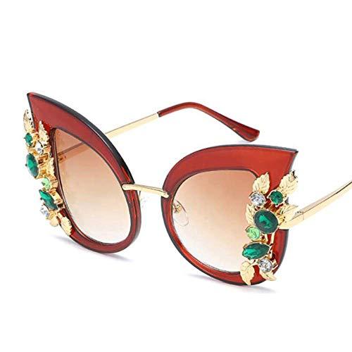SHIYID Fashion Green Diamond Sonnenbrille Frauen Sonnenbrille Transparent Rahmen Shades