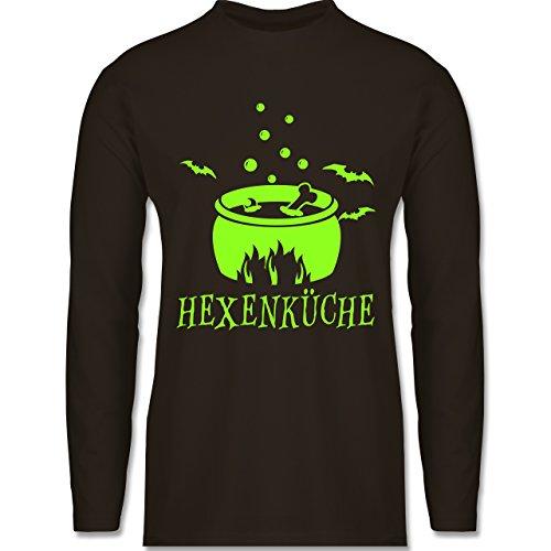 Shirtracer Küche - Hexenküche - S - Braun - BCTU005 - Herren Langarmshirt