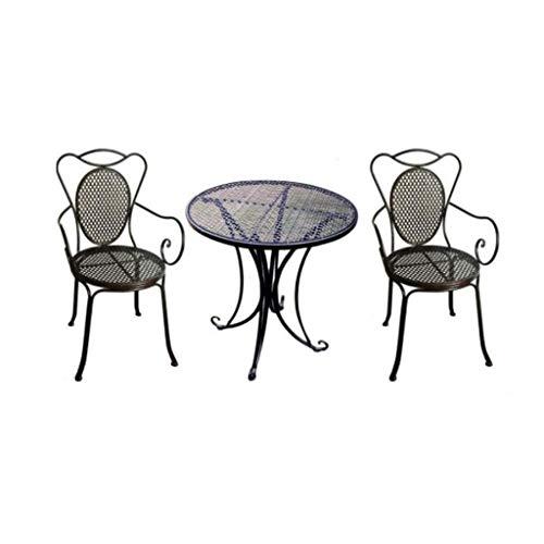 Eisen-bistro-stuhl (Courtyard Leisure Outdoor Esstisch und Stühle 3-teiliges Garden Trading Bistro Set)