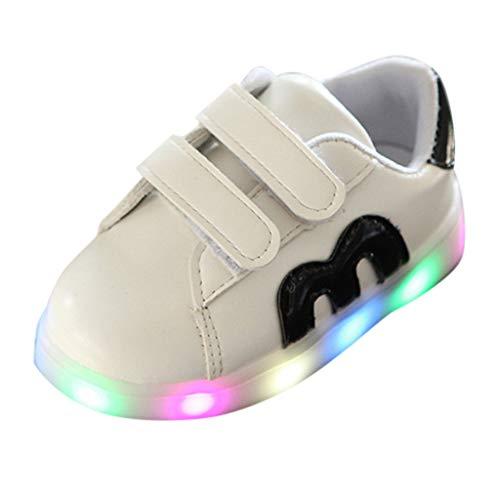 UOMOGO Scarpe LED Primavera-Estate Nuovo Lanciato Kid LED delle Scarpe da Tennis Colore del LED 7 con Certificato CE Mesh Sneaker da Neonato e neonata Lucida per 0-6 Anni