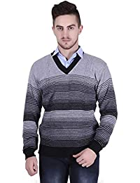 Starcollection Men's Multicolor Linging Full Sleeve V-Neck Sweater