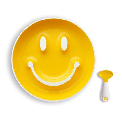 Munchkin Smile 'n Scoop Set cuchara plato ventosa