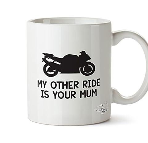 Hippowarehouse Mes autres Ride est votre Maman Moto 283,5gram Mug Cup, Céramique, blanc, One Size (10oz)