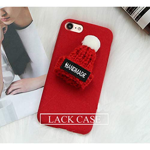 SEDRF Reizender DIY Hut-Warmer flockiger Telefon-Kasten für iPhone X Fall für iPhone 7 8 6 6S Plus Abdeckungs-Art- und Weiseliebes-Herz-Kaktus umkleidet Capa-Style36013,for iPhone X