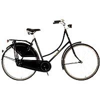 Bicicleta de paseo, tipo holandesa, 1 marcha, luces, cadena cubierta integral,