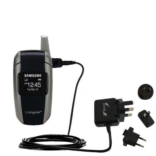 10W Gomadic Steckdosen-Ladegerät AC kompatibel mit Samsung SGH-X506 X507 mit Energiesparmodus und TipExchange