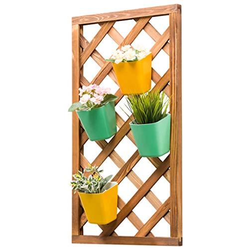 Pflanze Aufhänger Blumenregal Gestell Holz An der Wand montiert Klettergerüst Grüner Rettich Schwimmende Regale Hängend Bonsai Stand Wanddekoration für Balkon Garten Terrasse