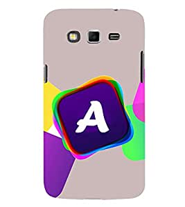 Alphabet A Hard Polycarbonate Designer Back Case Cover for Samsung Galaxy Grand 2 :: Samsung Galaxy Grand 2 G7105 :: Samsung Galaxy Grand 2 G7102 :: Samsung Galaxy Grand Ii
