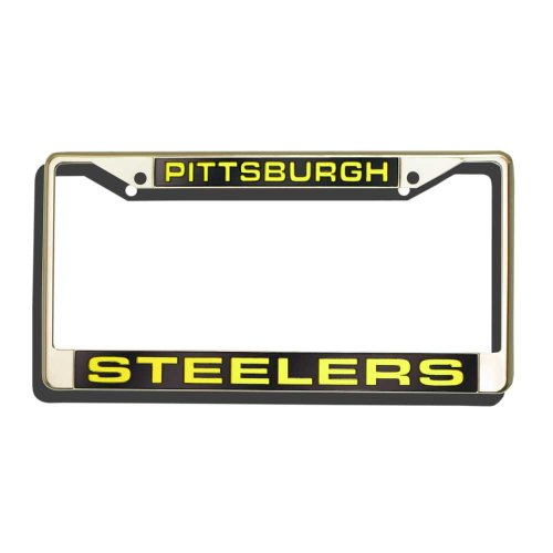Plate Pittsburgh License Frame (NFL Laser Chrom Teller Rahmen, Herren, Pittsburgh Steelers)