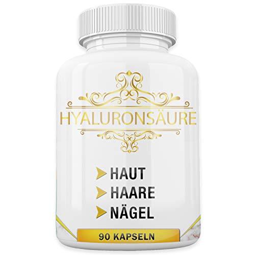 MediCares® Hyaluronsäure + Biotin | Selen | Vitamin D - 360mg - 90 Kapseln (für 3 Monate) - Anti Aging Formel für gesunde Haut, Haar, Nägel & Gelenke - Made in Germany