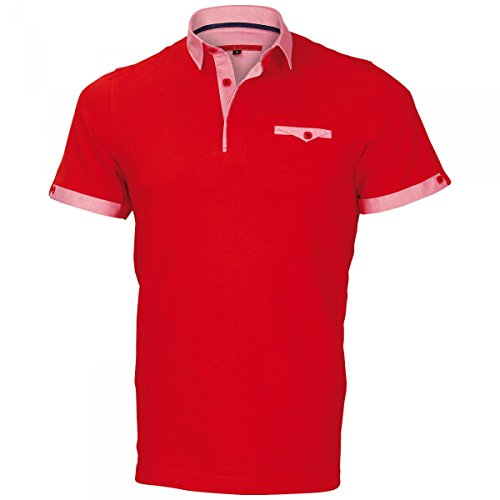 Polo col Italien Oxford Rouge - Taille 2XL