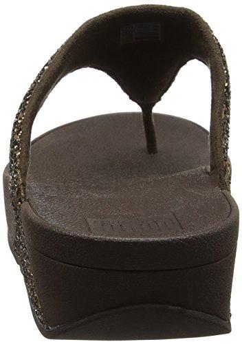 FitFlop - Glitterball Slide, Scarpe col tacco Donna Brown (Bronze Glitter)