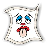 jeder-kann-basteln ♥ Sticker-Gesichter-mit Zunge ♥ Kleiner Preis! Lustige Aufkleber (Augen, Nase, Mund) für Kinder (mittel)