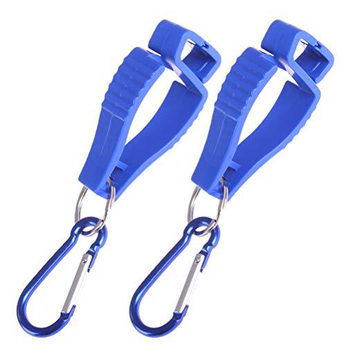2 Stücke Schutzhandschuh Clip Halter Aufhänger Guard Grabber mit Edelstahl Schlüsselanhänger für Golf Tauchen Handschuh Helm