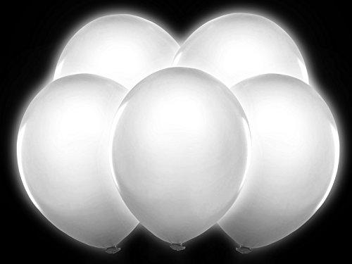 . weiß leuchtende Ballons für Hochzeit Party Geburtstag (Ballons Mit Led-lichtern Im Inneren)