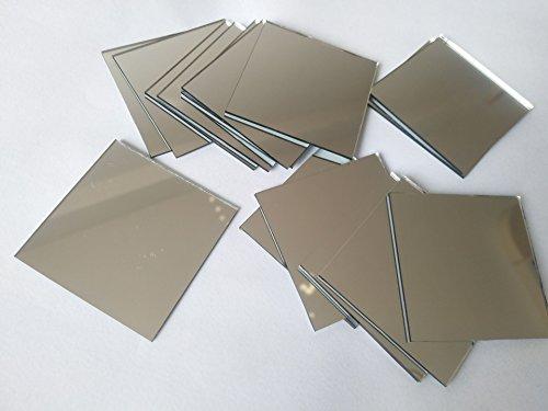 Espejo cuadrado de cristal mosaico azulejos cuadrados manualidades espejos DIY accesorio, 2 pulgadas
