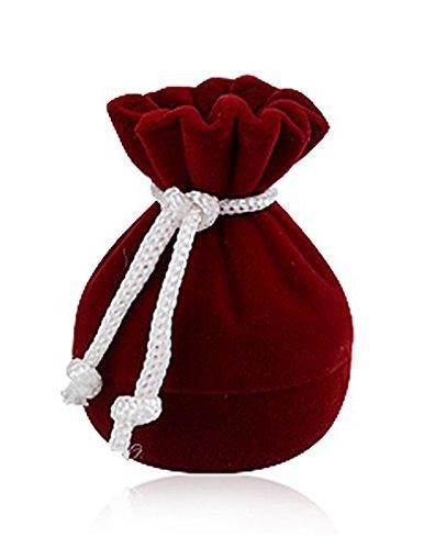Joyas caja de regalo anillo caja joyas oro Saco