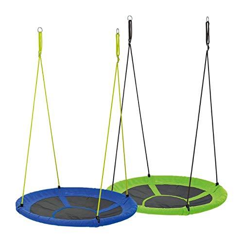 Playland Nestschaukel Rundschaukel Ø: ca. 110 cm/Tragkraft: ca. 150 kg (Blau)