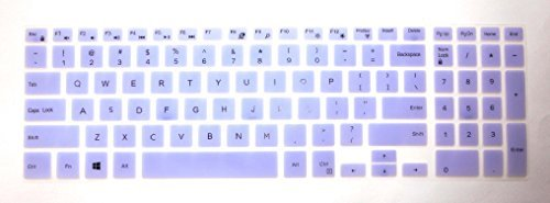 US Layout Keyboard Protector Skin Cover for 15.6'' Dell Inspiron 15-5558, 15-5559, 15-5565, 15-5567, 15-5566, 17-7778, i5558, i5559, i5565, i5567, i5566, i7778 with BingoBuy Card Case (Purple)